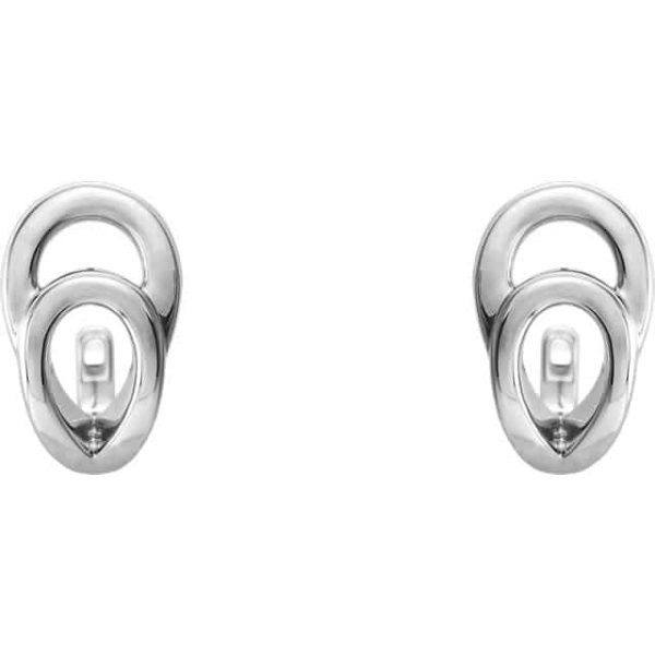739586133e5f8 CWEB Sterling Silver Geometric J-Hoop Earrings - CWEB - Trending ...