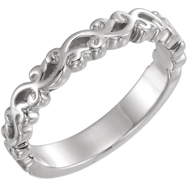 CWEB Sterling Silver Stackable Ring