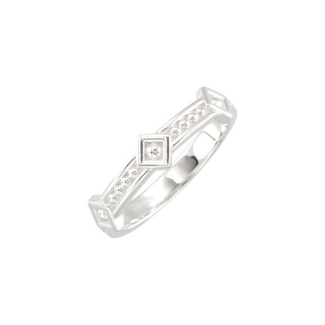 CWEB Sterling Silver Stackable Fashion Ring